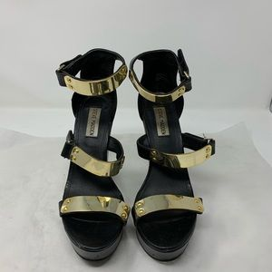 Steve Madden Platforms With Gold plate Straps